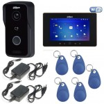 Kit videointerfon IP WIRELESS Dahua 1 familie - apelare pe smartphone si control acces